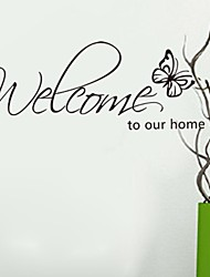 Wall Stickers Wall Decals, Welcome Home PVC Wall Stickers
