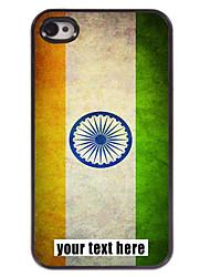 gepersonaliseerd geval Indiase vlag ontwerp metalen behuizing voor de iPhone 4 / 4s