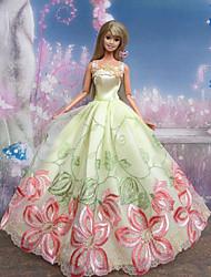 Barbie Doll Butterfly Fairy Black Bow Pattern Princess Dress