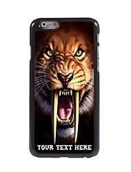 caso de telefone personalizado - tigre caso design de metal para o iPhone 6