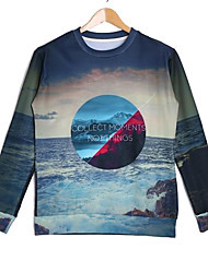 Men's Cotton Long Sleeve 3D Printed Autumn Hip Pop Sweatshirts