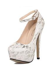 Scarpe Donna - Scarpe col tacco - Formale / Serata e festa - Tacchi / Punta arrotondata - A stiletto - Finta pelle - Bianco