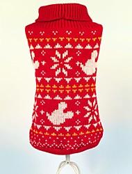 Hunde / Katzen - Winter - Fasergemisch Rot - Pullover - XS / S / M / L / XL