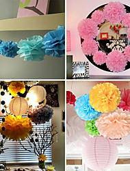Wedding Décor 12 inch Tissue Paper Pom Poms  Party Decor Craft Paper Flowers (Set of 4)