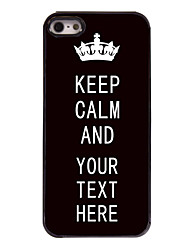 Personalized Case Black Keep Calm Design Metal Case for iPhone 5/5S