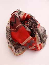 Women's Voile Scarf Geometric Patterns