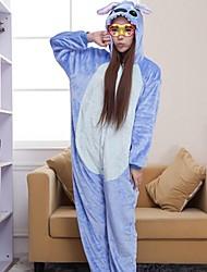point bleu kigurumi adulte de pyjama des femmes qianjiatian