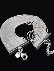 Woman's Fashion Personality Snake Bones Tassel Silver Bracelet