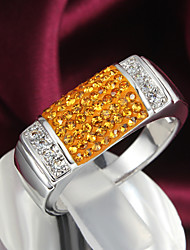 Hot Selling 2015 New Design Shamballa White Gold Ring Wedding Rings for Men And Women