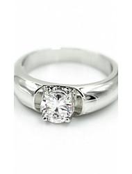 Women's Silver Alloy Rhinestone Wedding Rings