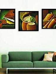 E-HOME®  Framed Canvas Art,Play Framed Canvas Print Set of  3