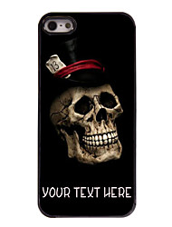 Personalized Case Cool Skull Pattern Metal Case for iPhone 5/5S