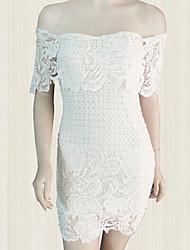 vestido de encaje de la venta caliente v cuello de las mujeres del te