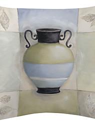 Colorful Ceramic Vase Velvet Decorative Pillow Cover