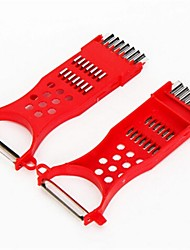 faca de plástico de 16 × 7 × 1 cm (6,3 × 2,8 × 0,4 polegadas)