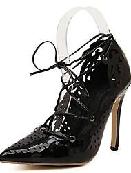 Scarpe Donna - Sandali - Formale / Serata e festa - Tacchi / A punta - A stiletto - Finta pelle - Nero / Beige