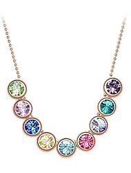 Кристалл Rhinestone mulri-ожерелье цвета lonlon женщин