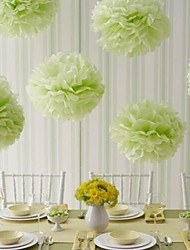 Wedding Décor 10 inch Paper Pom Tissue Flower - Set of 4 (More Colors)
