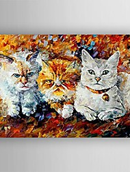 Hand-Painted Animal One Panel Canvas Oil Painting For Home Decoration