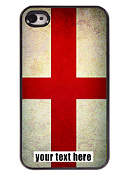 gepersonaliseerd geval engeland vlag ontwerp metalen behuizing voor de iPhone 4 / 4s