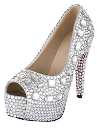 Women's Wedding Shoes Heels/Peep Toe/Platform Heels Wedding Silver