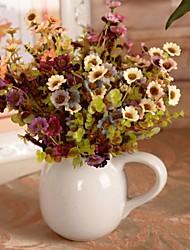 """fleurs artificielles blanches pourpres bouquet 2 pièces / lot 5,51 """"pour la décoration d'intérieur"""