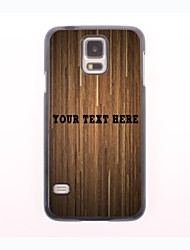 Personalized Phone Case - Brown Plank Design Metal Case for Samsung Galaxy S5