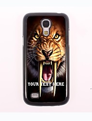 personalisierte Telefon-Fall - Tiger Design Metall-Fall für Samsung-Galaxie s4