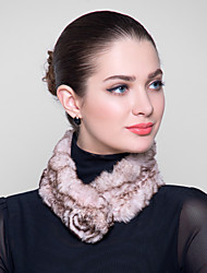 Fur Wraps Peony Shaped Rex Rabbit Fur Wraps