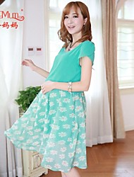Maternity summer fashion drilling hot Korean pregnant women pregnant women dress Chiffon Dress