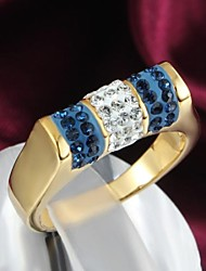 Classic 18k Gold Plated Alloy Statement Rings(1pc)