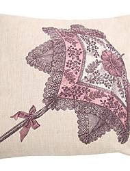 "createforlife® 18 ""ретро эскиз зонтик хлопок белье квадрат декоративные подушки"