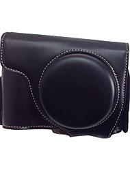 dengpin® retro pu de couro da câmera capa protectora destacável saco caso com alça de ombro para Nikon Coolpix p7700 p7800