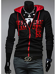 Playgame Men's Casual Letter Pattern Hoodie