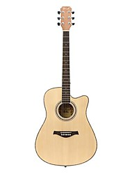 Spruce & Sapele Dreadnought Acoustic Guitar Cutway Natural