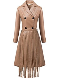 Women Faux Leather Dress