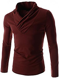 Men's V Neck Slim Long Sleeve T-Shirts
