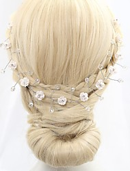 Women's / Flower Girl's Headpiece-Wedding / Special Occasion Headbands / Flowers / Wreaths / Head Chain