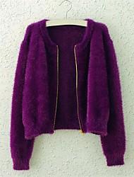 женская молния волосатые мохер кардиган свитер