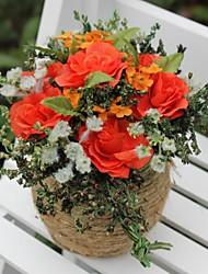 décoration de mariage rouge décoration de fleur artificielle décoration de la maison
