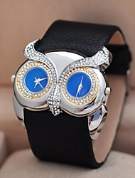 Women's  Double Dial Double Movement Diamond Watches Circular High Quality Watch Movement(Assorted Colors)