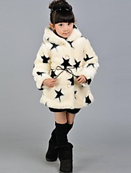 Girl's Faux Fur Down & Cotton Padded , Winter Long Sleeve