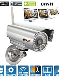 Bullet Outdoor IP Camera 1080P Day Night Waterproof WIFI (1/3 Inch Color CMOS Sensor)