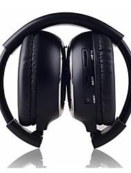ir-2011D cuffie 2 canali stereo pieghevole wireless a raggi infrarossi on-ear - nero + argento (2 x aaa)
