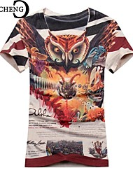 CHICHENG®Men O-Neck Novelty Print Graffiti Short Sleeve Slim Fit Casual Tshirt Hombre  Hip Pop Harajuku Tees Tops