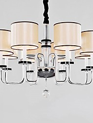 40W Chandelier ,  Modern/Contemporary Chrome Feature for Crystal Metal Living Room / Dining Room / Study Room/Office / Hallway