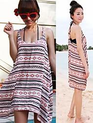 moda feminina roma impressão de volta cruz swimwear algodão swimsuit bikini encobrir vestido de férias