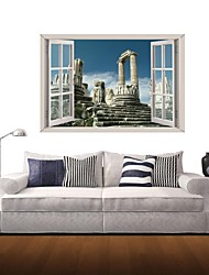 3D Wall Stickers Wall Decals, Historical Sites Decor Vinyl Wall Stickers