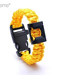 Lureme® Paracord Survival Escape Cord Bottle Opener Long Bracelet