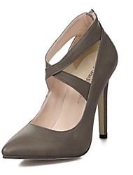 Scarpe Donna - Scarpe col tacco - Formale / Serata e festa - Tacchi / A punta - A stiletto - Finta pelle - Nero / Grigio